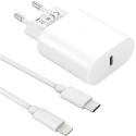 PACK20W-IP - Chargeur rapide 20w pour iPhone (chargeur secteur + câble USB-C / Lightning)