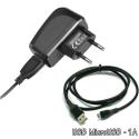 PACKSECTEURMICROUSB - Chargeur secteur USB 1A + Câble micro-USB
