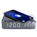 PADQI-GJ-05 - Socle chargement sans fil induction avec affichage de l'heure et température