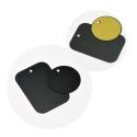 PLAQUE-MAGNET - 2 x Plaques en métal pour support aimanté à coler au dos du smartphone