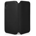 QDOS-MILANOXRNOIR - Etui folio en cuir véritable iPhone XR noir de QDOS