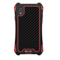 RJUST-SHOCKIPXRROUGE - Coque iPhone XR R-Just ShockProof noir rouge métal + carbone