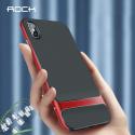 ROCKROYCE-IPXSMAXROUGE - Coque iPhone XS Max Rock-Royce bi-matières noire et rouge