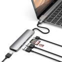SATECHI-SCMA2M - Satechi Adaptateur Type-C Space V2 Multiport HDMI 4K gris foncé