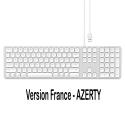 SATECHI-ST-AMWKS-FR - Clavier filaire AZERTY en USB pour Apple gris silver de SATECHI