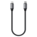 SATECHI-TCL10M - Câble 25cm ultra robuste de Satechi priseUSB-C vers Lightning pour iPhone /iPad