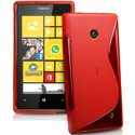 SLINEROUGELUM520 - Coque Housse S-Line Rouge Nokia Lumia 520