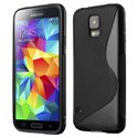 SLINENOIRS5 - Coque Housse S-Line noire Samsung Galaxy S5
