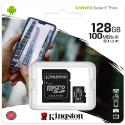 TF128GKING-SDCS2 - Carte mémoire Kingston 128 Go Classe 10 Canvas Select-Plus