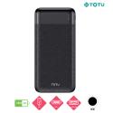 TOTU-CPBN-035 - Batterie PowerBank TOTU de 10.000 mAh noire USB-C et Micro-USB