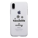 TPU0IPHONEXRACLETTECOMING - Coque souple pour Apple iPhone X avec impression Motifs raclette is coming