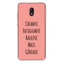 TPU0LENNY5GENIALEROSE - Coque souple pour Wiko Lenny 5 avec impression Motifs Chiante mais Géniale rose