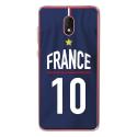 TPU0LENNY5MAILLOTFRANCE - Coque souple pour Wiko Lenny 5 avec impression Motifs Maillot de Football France