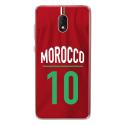 TPU0LENNY5MAILLOTMAROC - Coque souple pour Wiko Lenny 5 avec impression Motifs Maillot de Football Maroc