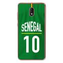 TPU0LENNY5MAILLOTSENEGAL - Coque souple pour Wiko Lenny 5 avec impression Motifs Maillot de Football Sénégal