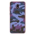 TPU0LENNY5MILITAIREBLEU - Coque souple pour Wiko Lenny 5 avec impression Motifs Camouflage militaire bleu