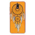 TPU0LENNY5REVEORANGE - Coque souple pour Wiko Lenny 5 avec impression Motifs attrape rêve sur fond orange