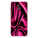 TPU0LENNY5SOIEROSE - Coque souple pour Wiko Lenny 5 avec impression Motifs soie drapée rose