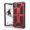 UAG-IPHXSMAXMONAROUGE - Coque UAG iPhone Xs Max série Monarch 5 couches antichoc et alliage métal rouge