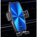 USAMS-CD134BLUE - Support smartphone avec charge sans fil fixation grille aération Zeny de Usams
