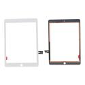 VITRE-IPAD2018BLANC - Vitre tactile iPad 9,7 pouces version 2018 blanc modèle A1893 et A1954