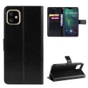 WALLET-IP12NOIR - Etui portefeuille iPhone-12/12 PRO coloris noir rabat latéral articulé fonction stand