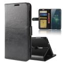 WALLET-XZ2NOIR - Etui type portefeuille noir pour Sony Xperia XZ2 avec rabat latéral fonction stand