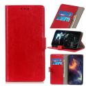 WALLET-Y70ROUGE - Etui portefeuille Wiko Y70 rabat latéral rouge logements cartes
