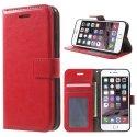 WALLETIP7ROUGE - Etui type portefeuille pour iPhone-7 coloris rouge rabat latéral articulé fonction stand