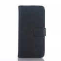 WALLUX-IPOD6NOIR - Etui iPod Touch 5G / 6G rabat latéral noir en cuir
