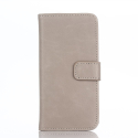 WALLUX-IPOD6TAUPE - Etui iPod Touch 5G / 6G rabat latéral en cuir taupe