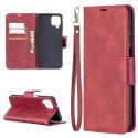 WALLVINT-A12ROUGE - Etui type portefeuille Galaxy A12 rouge avec rabat latéral fonction stand