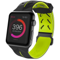 XDORIA-WATCH3X482901A - Bracelet sport souple noir et vert pour Apple Watch 42/44 mm
