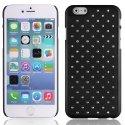 ZIRCOIP655NOIR - Coque rigide noire avec des strass incrustés pour iPhone 6 Plus 5,5 pouces