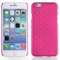 ZIRCOIP655ROSE - Coque rigide rose avec des strass incrustés pour iPhone 6 Plus 5,5 pouces