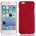 ZIRCOIP655ROUGE - Coque rigide rouge avec des strass incrustés pour iPhone 6 Plus 5,5 pouces