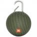 JBL-CLIP3VERT - Enceinte tout terrain JBL Clip 3 coloris vert avec mousqueton